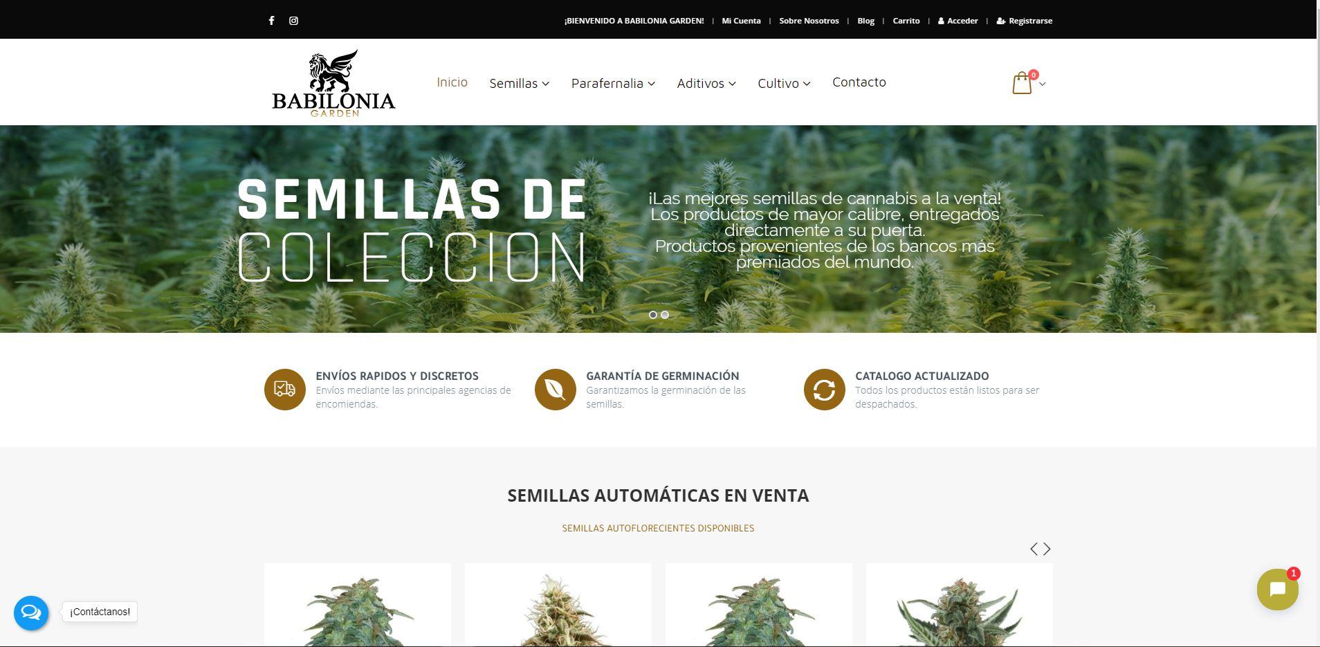 Babiloniagarden.cl - Tiweb - Pagina Web Autoadministrable - Posicionamiento Web